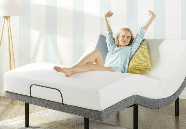 adjustable bed with mattress